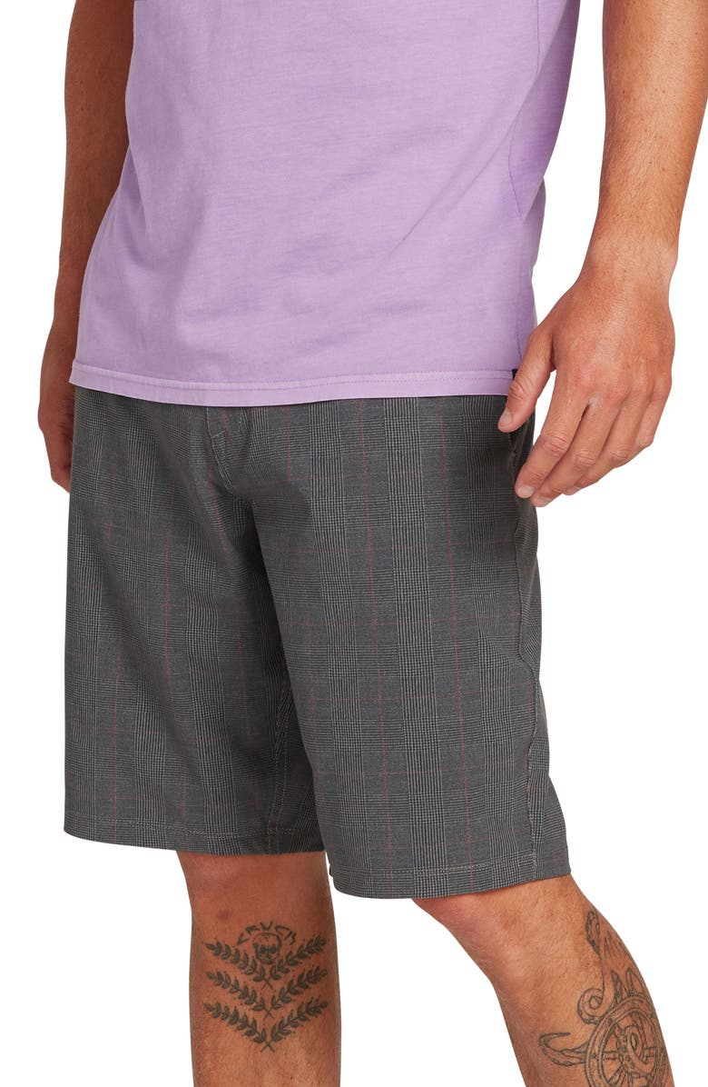 VOLCOM Frickin Surf N' Turf Mix Hybrid Shorts, Main, color, PEWTER
