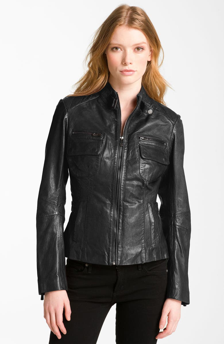 0340072c13a Bod & Christensen Quilted Leather Moto Jacket | Nordstrom