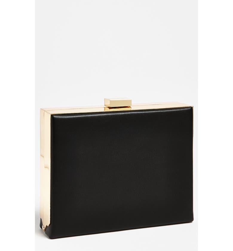NATASHA COUTURE Box Clutch, Main, color, 001