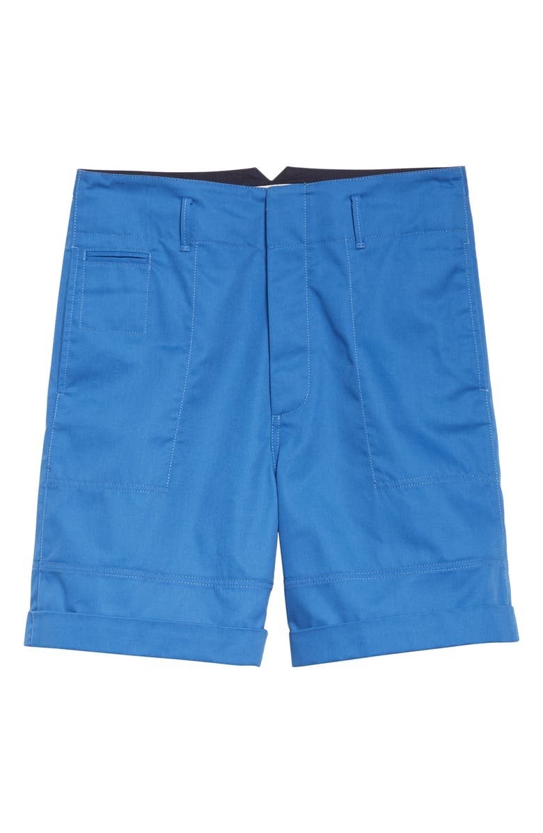 MARNI Workwear Shorts, Main, color, BLUE