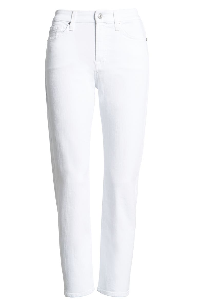 7 FOR ALL MANKIND<SUP>®</SUP> 'Kimmie' Crop Skinny Jeans, Main, color, CLEAN WHITE