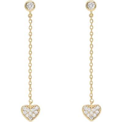 Ettika Heart Drop Earrings