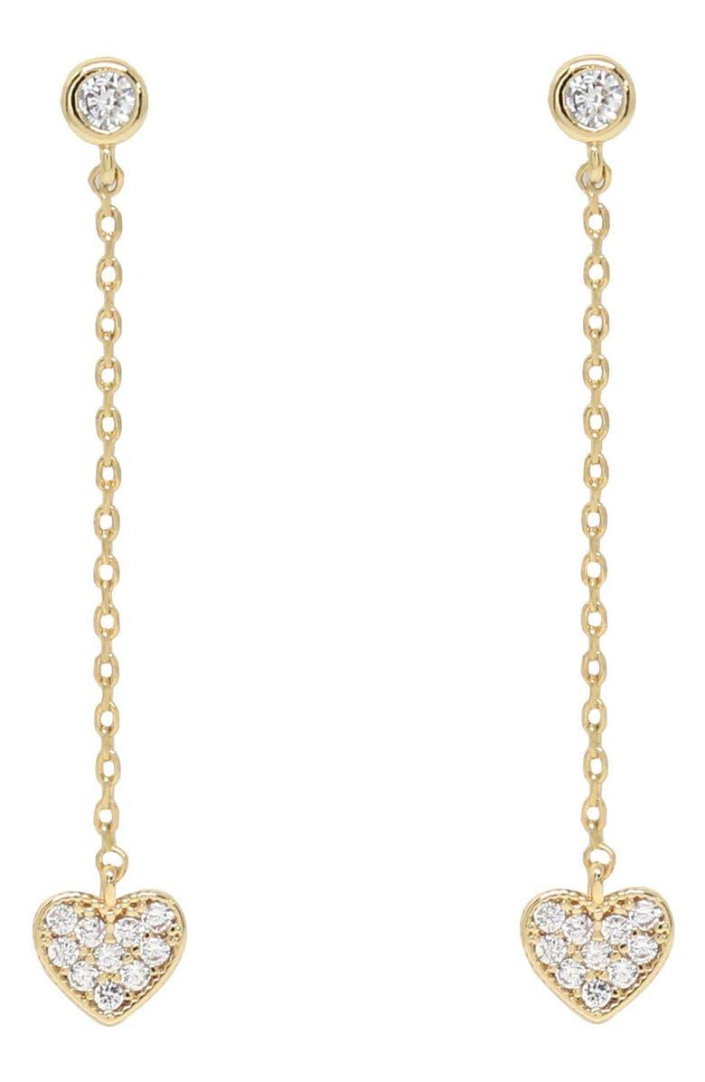 ETTIKA Heart Drop Earrings, Main, color, GOLD