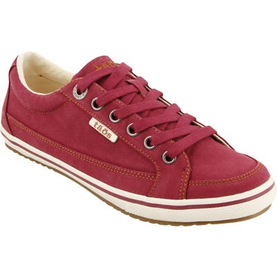 Taos Moc Star Sneaker, Red