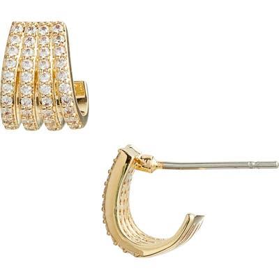 Nordstrom Multirow Pave Huggie Earrings