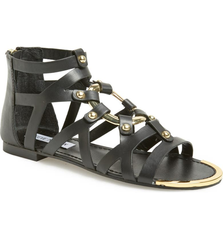 STEVE MADDEN 'Cirrcle' Studded Gladiator Sandal, Main, color, 005