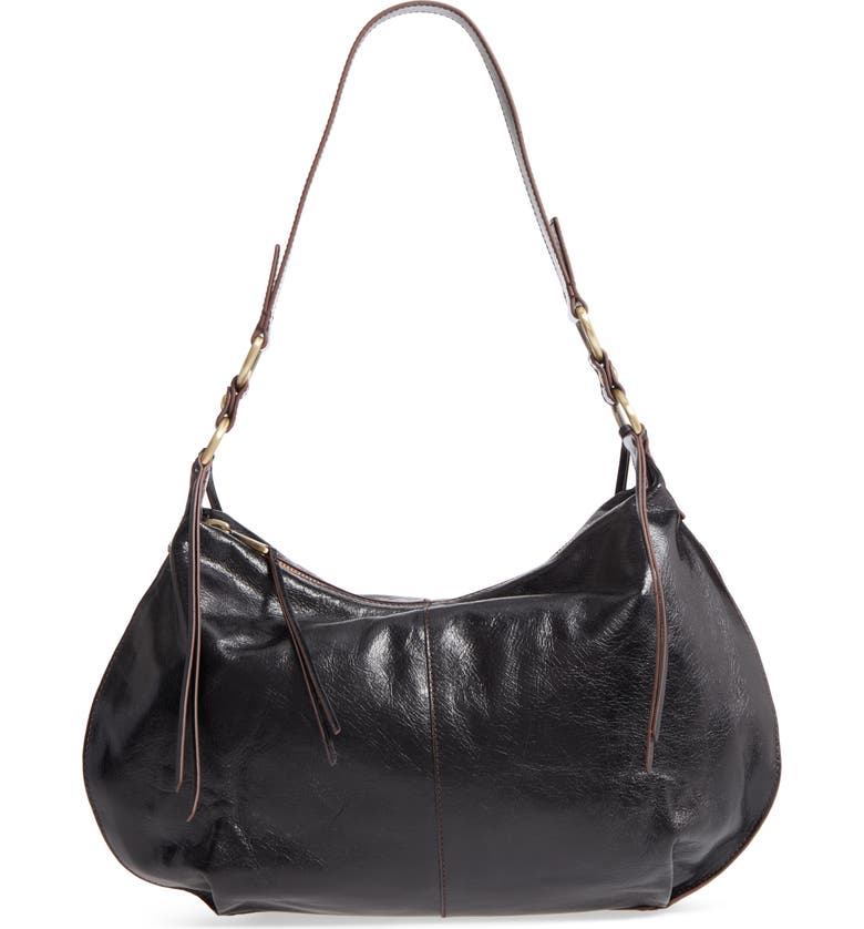 HOBO Lennox Leather Shoulder Bag, Main, color, 001