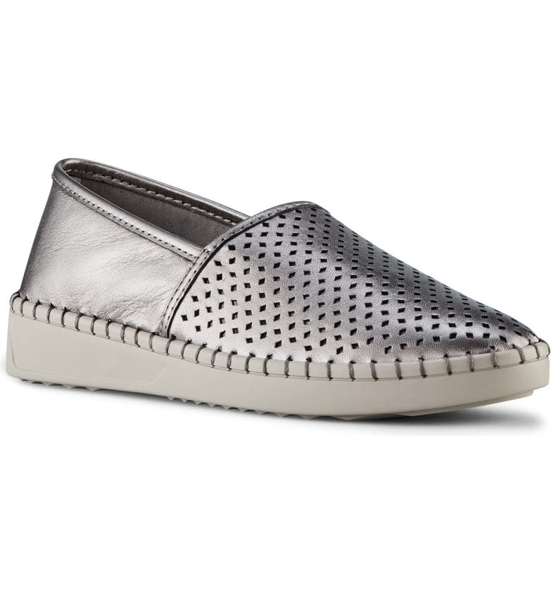 COUGAR Cruz Perforated Slip-On Sneaker, Main, color, SILVER LEATHER