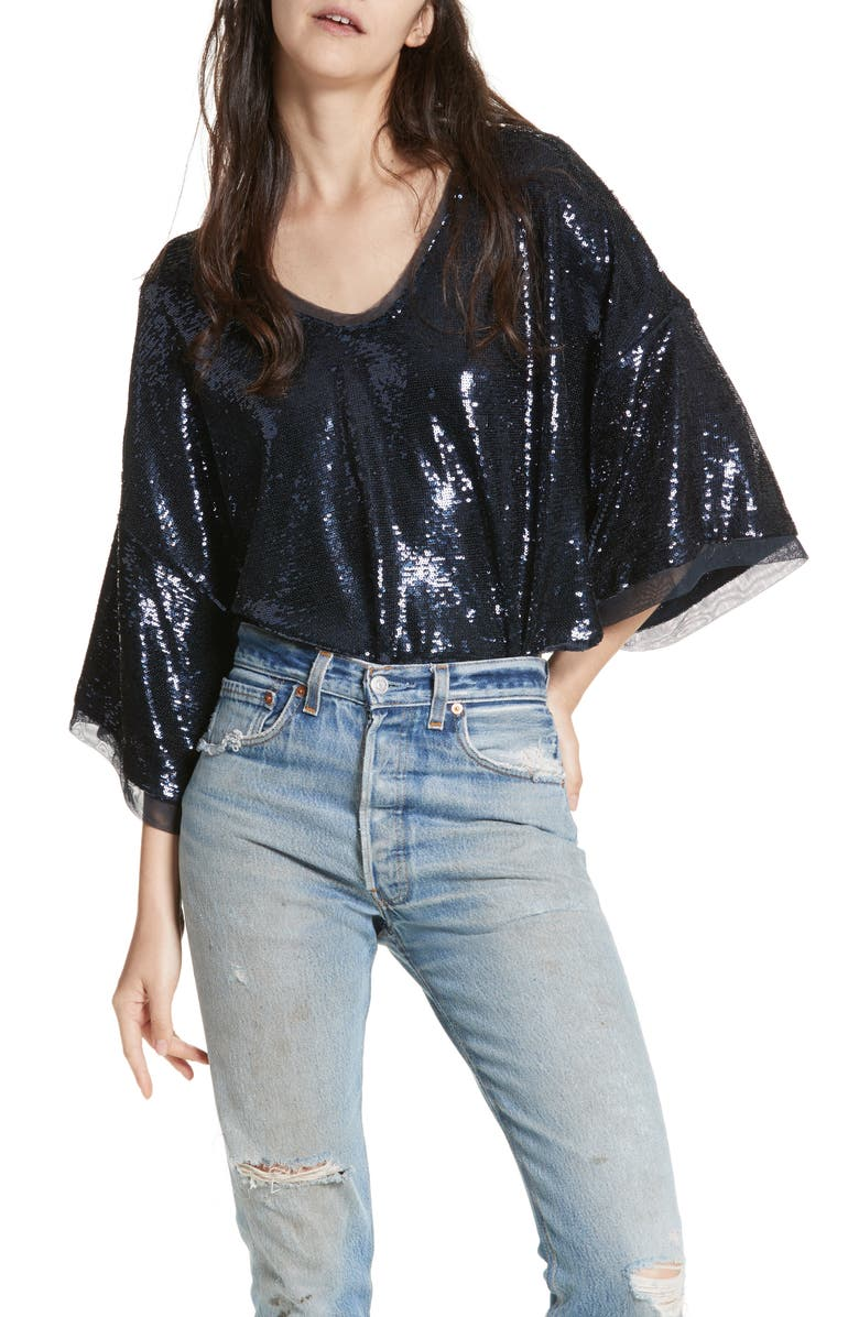 FREE PEOPLE Champagne Dreams Top, Main, color, 410