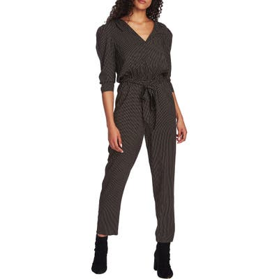 1.state Puff Sleeve Jumpsuit, Black