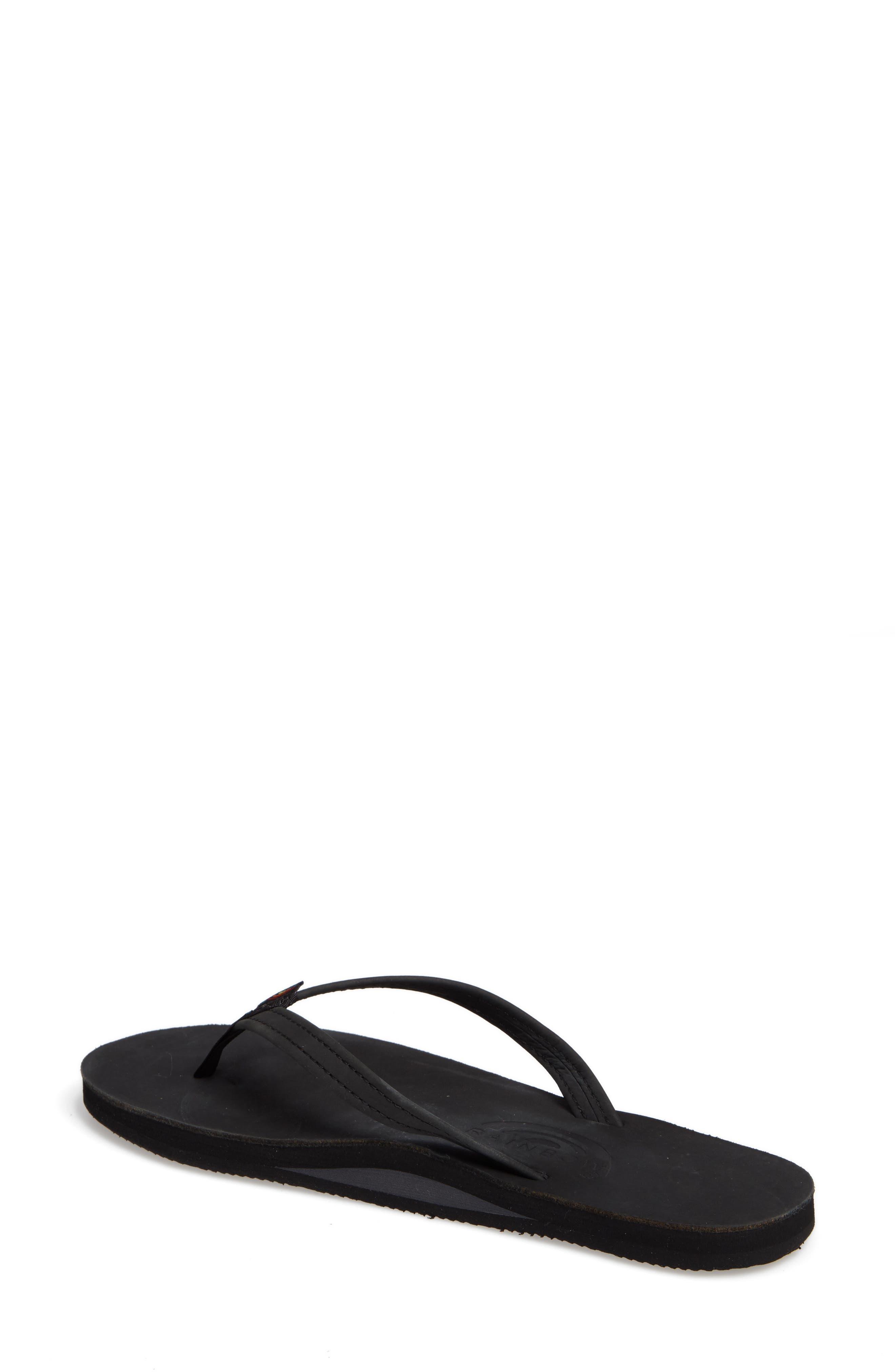 ,                             Rainbow Narrow Strap Sandal,                             Alternate thumbnail 2, color,                             BLACK