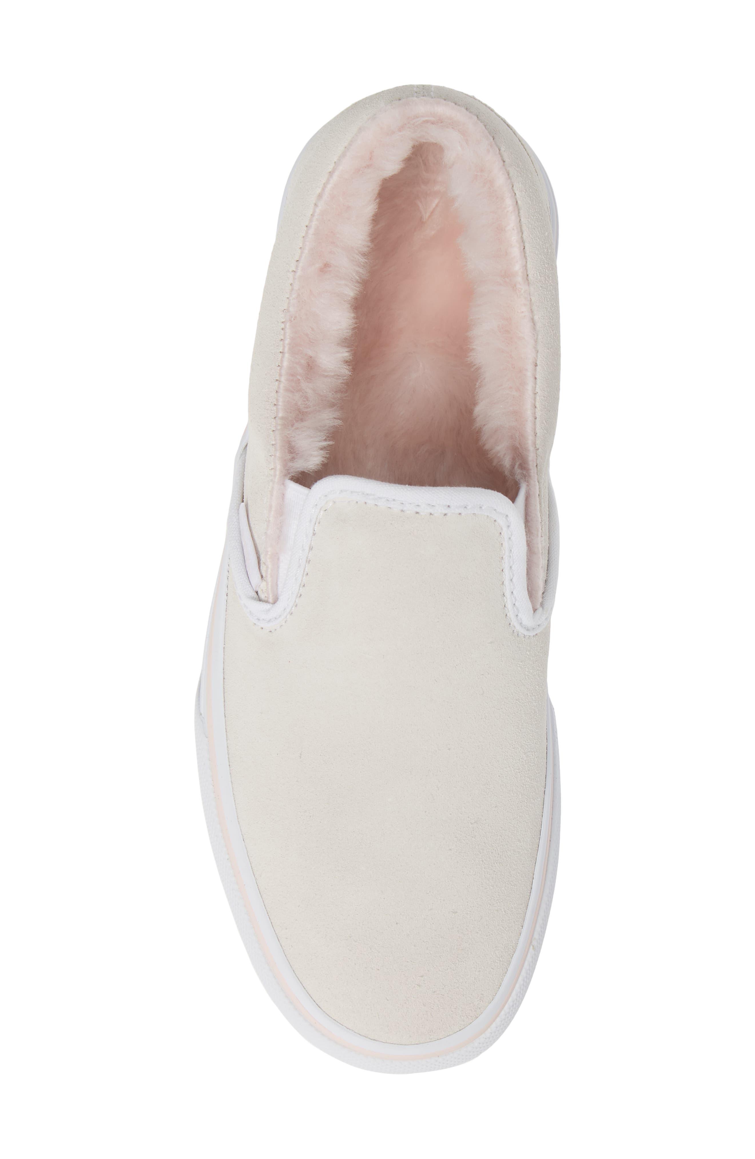 ,                             Classic Faux Fur Slip-On Platform Sneaker,                             Alternate thumbnail 11, color,                             900