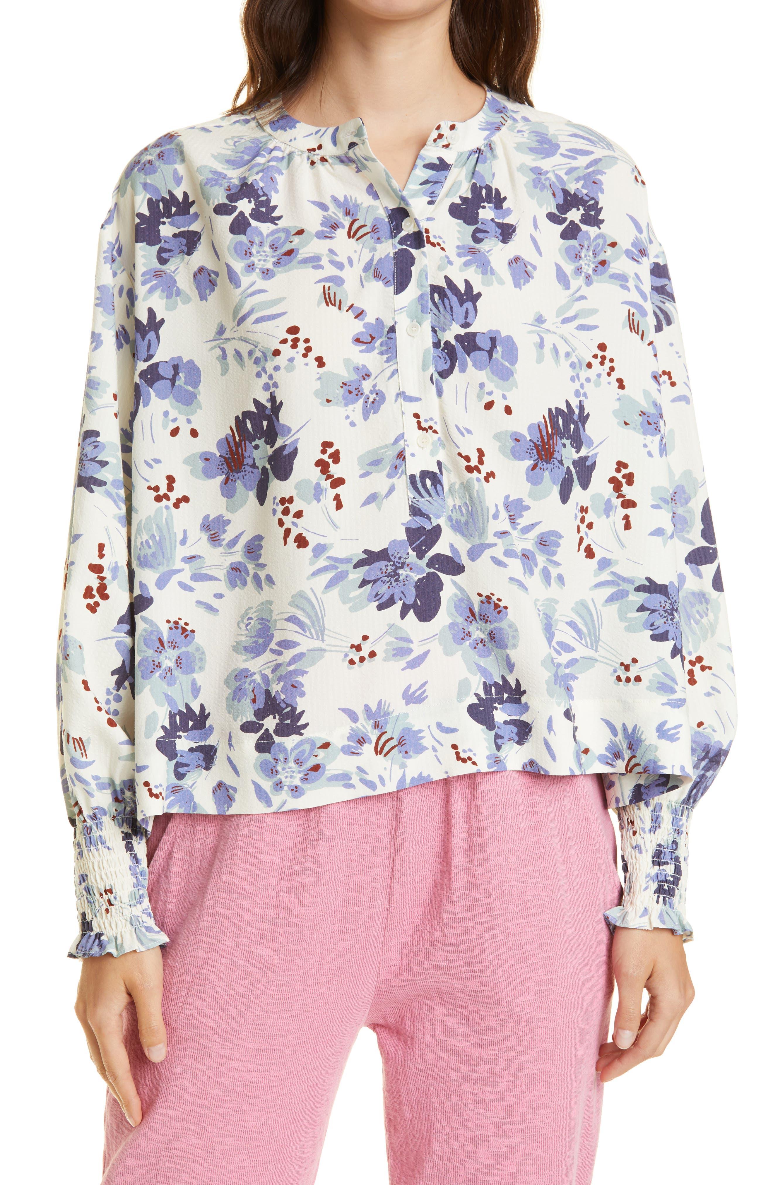 Oriana Floral Popover Top