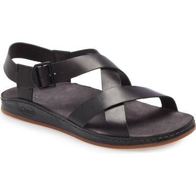 Chaco Wayfarer Strappy Sandal, Black