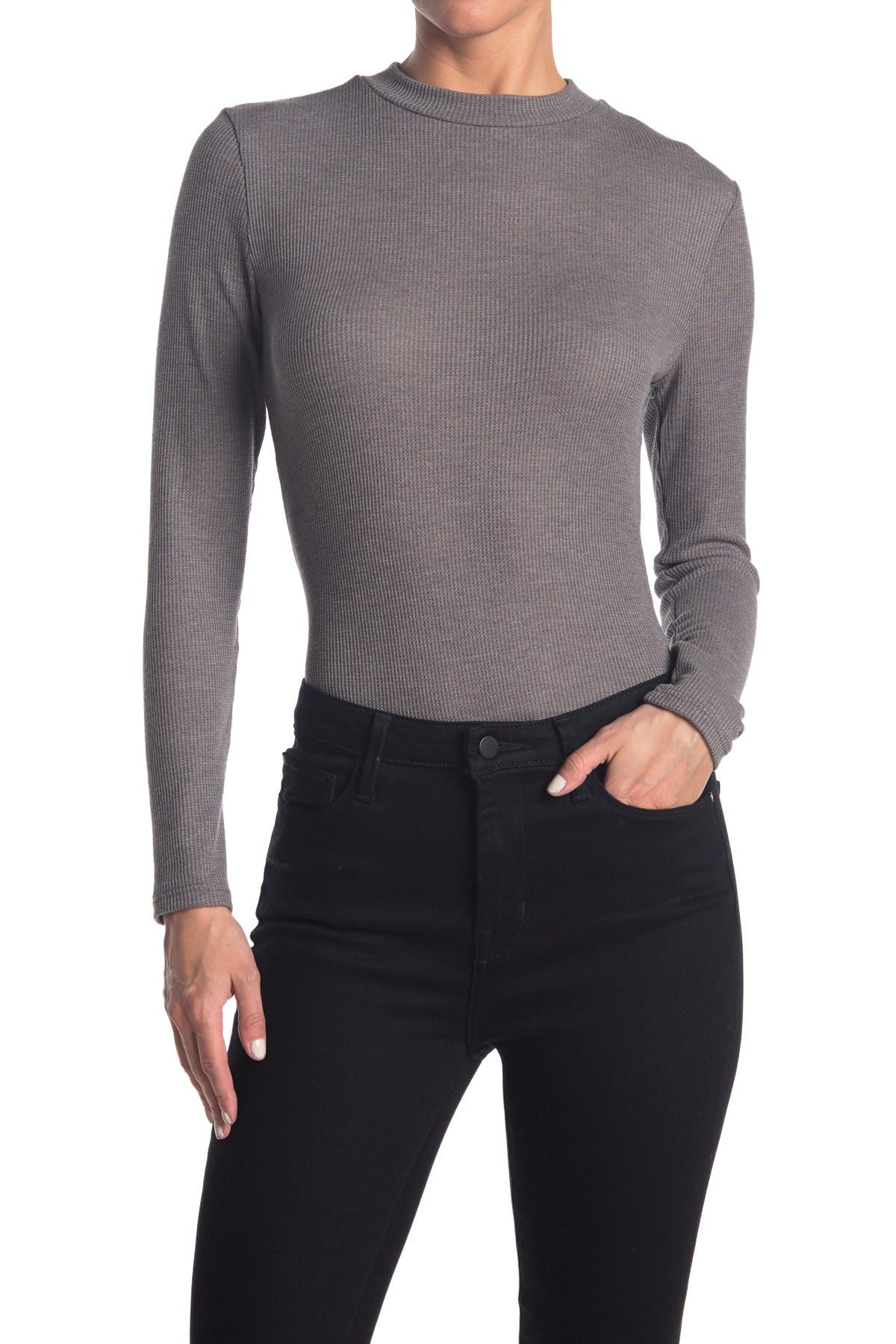 Image of Abound Mock Neck Ribbed Bodysuit