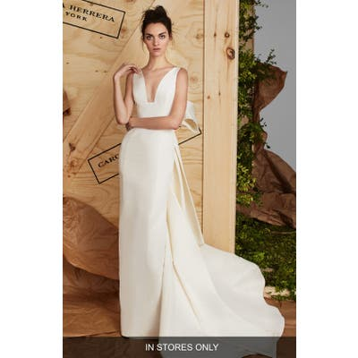 Carolina Herrera Aubrey Silk Faille Column Gown