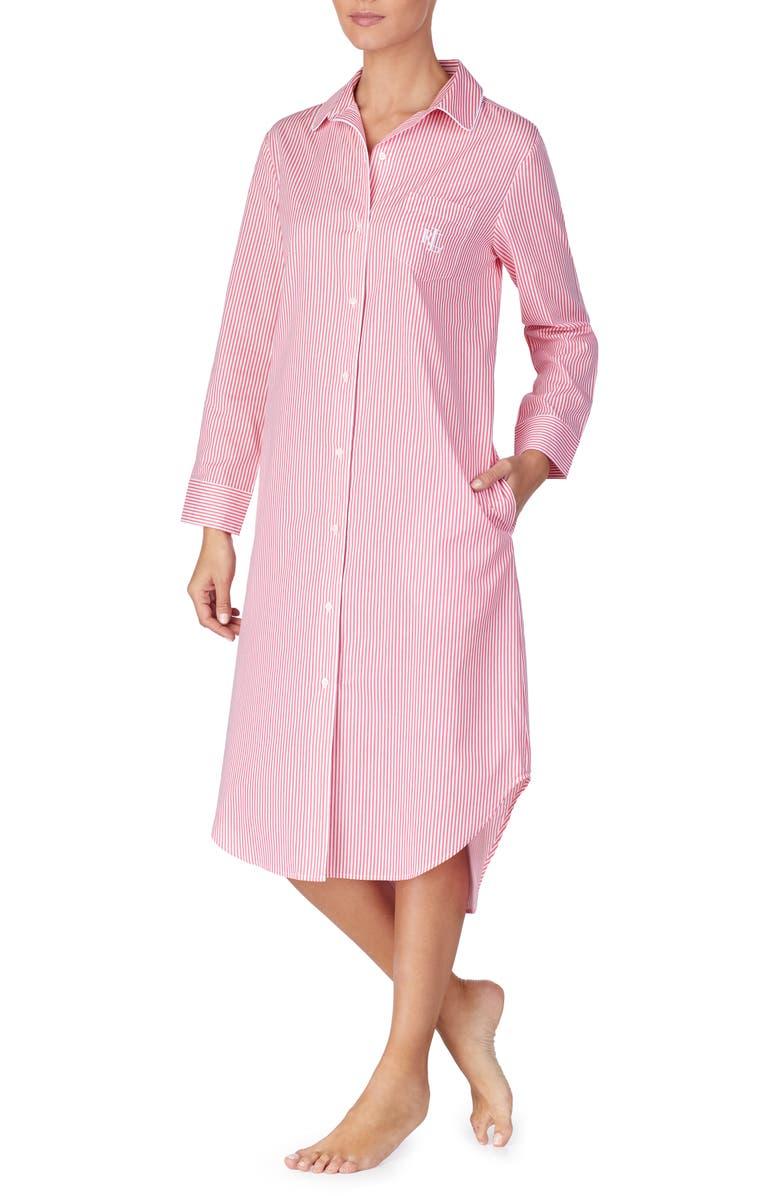 LAUREN RALPH LAUREN Ballet Cotton Sleep Shirt, Main, color, 686