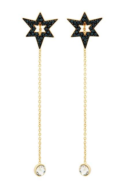 Image of Swarovski Starburst Crystal Chain Drop Earrings