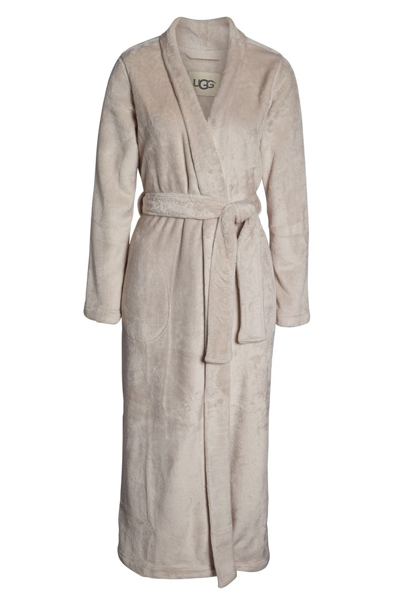 UGG<SUP>®</SUP> Marlow Double-Face Fleece Robe, Alternate, color, MOONBEAM