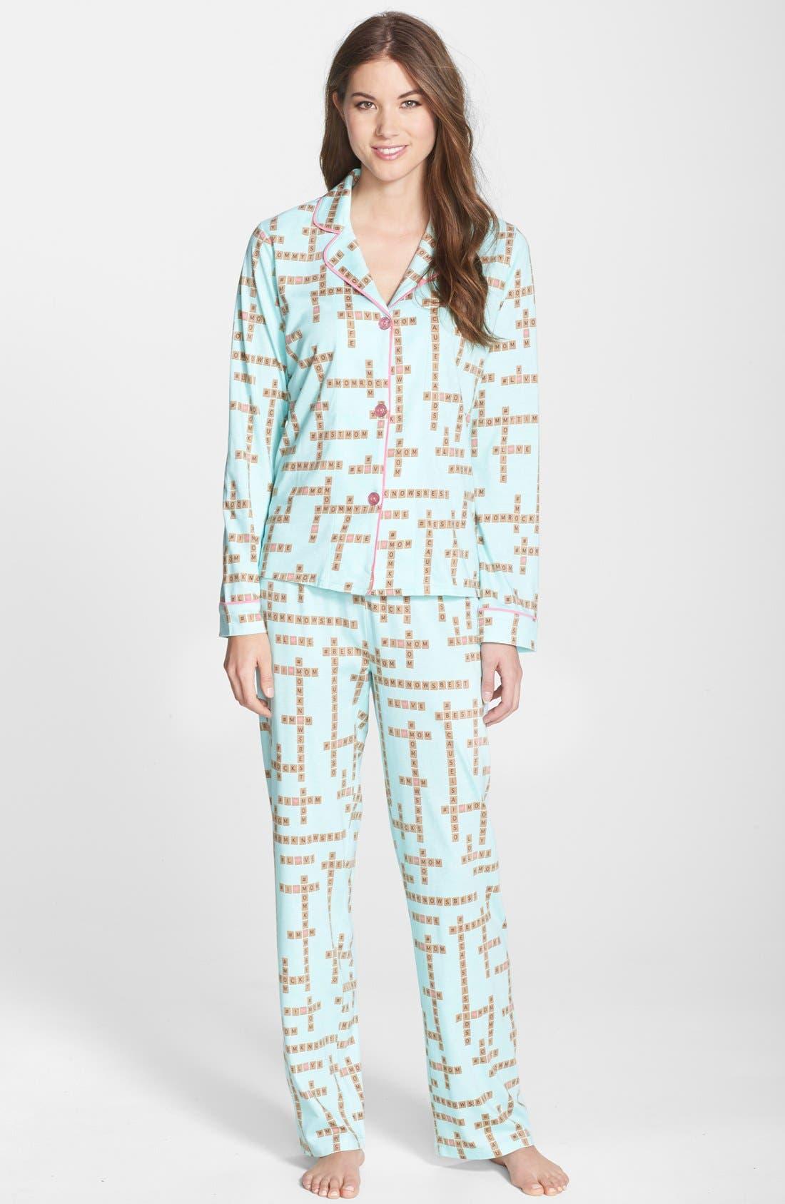 ,                             Print Jersey Pajamas,                             Main thumbnail 13, color,                             330