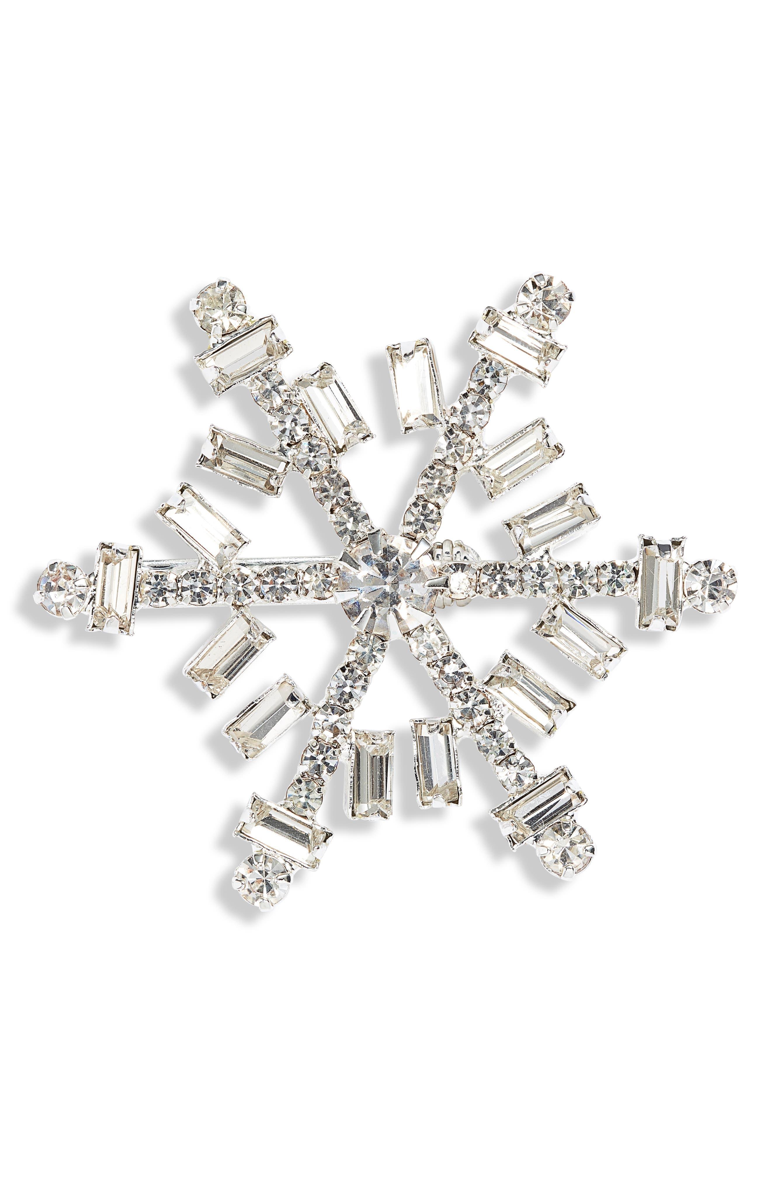 Snowflake Crystal Pin