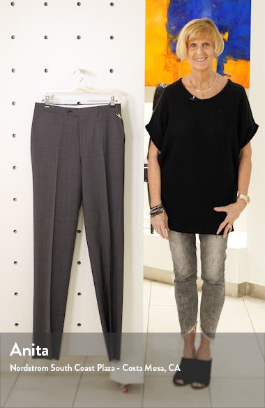 Flat Front Classic Fit Wool Dress Pants, sales video thumbnail