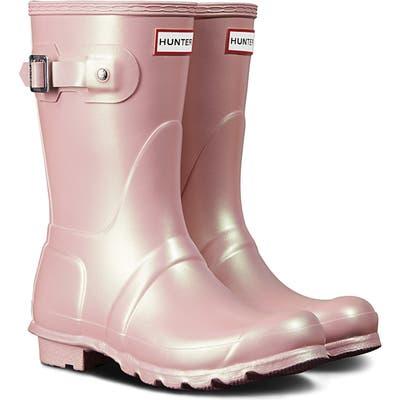 Hunter Original Short Nebula Rain Boot, Pink