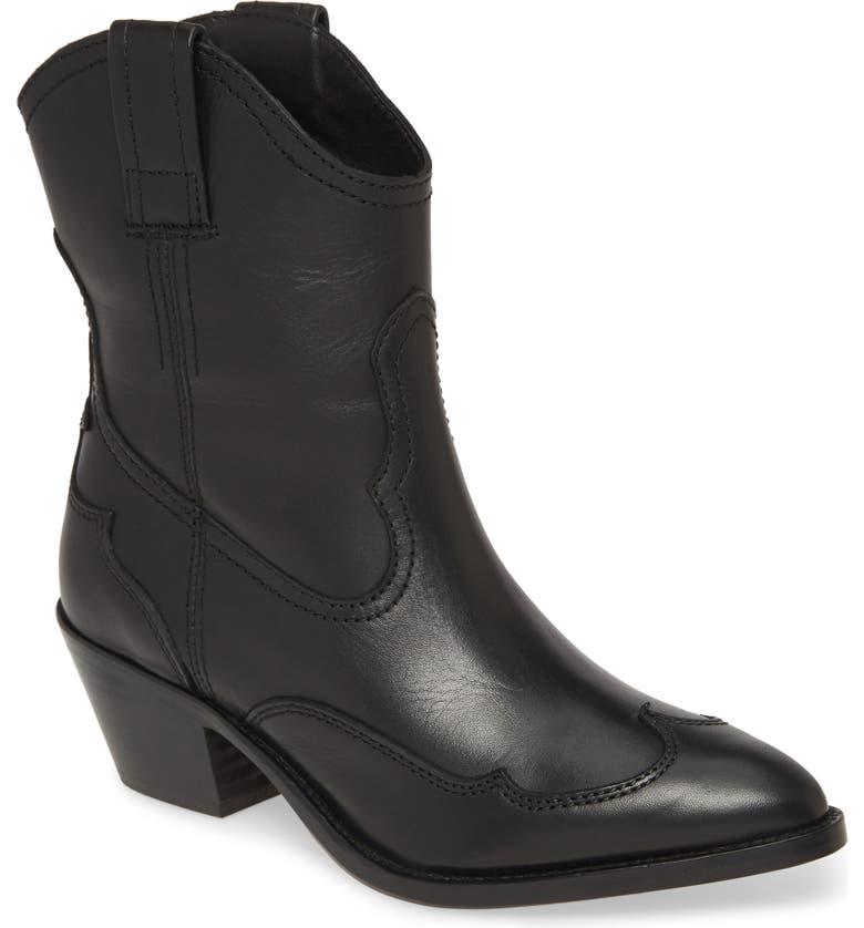 ALLSAINTS Shira Western Boot, Main, color, 001