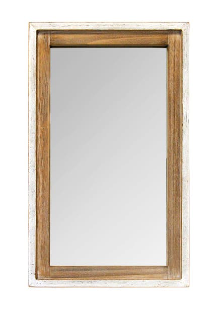 Image of Stratton Home White, Natural Adeline Wood Mirror