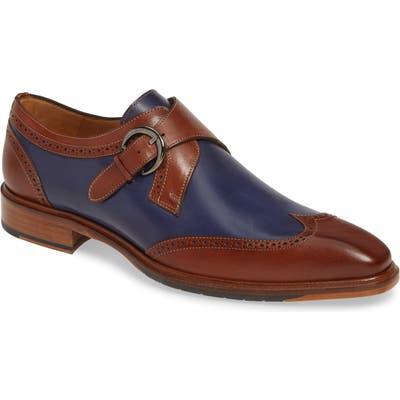 Mezlan Modesto Monk Strap Shoe- Brown