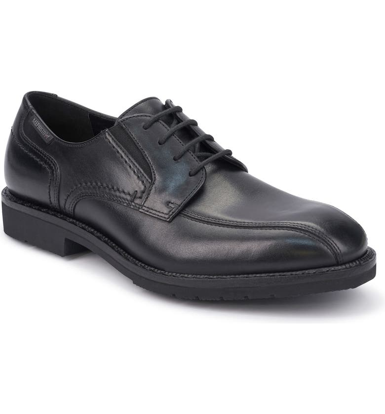 MEPHISTO Nelson Bike Toe Derby, Main, color, BLACK LEATHER