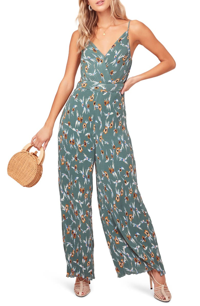 ASTR THE LABEL Plissé Jumpsuit, Main, color, 440