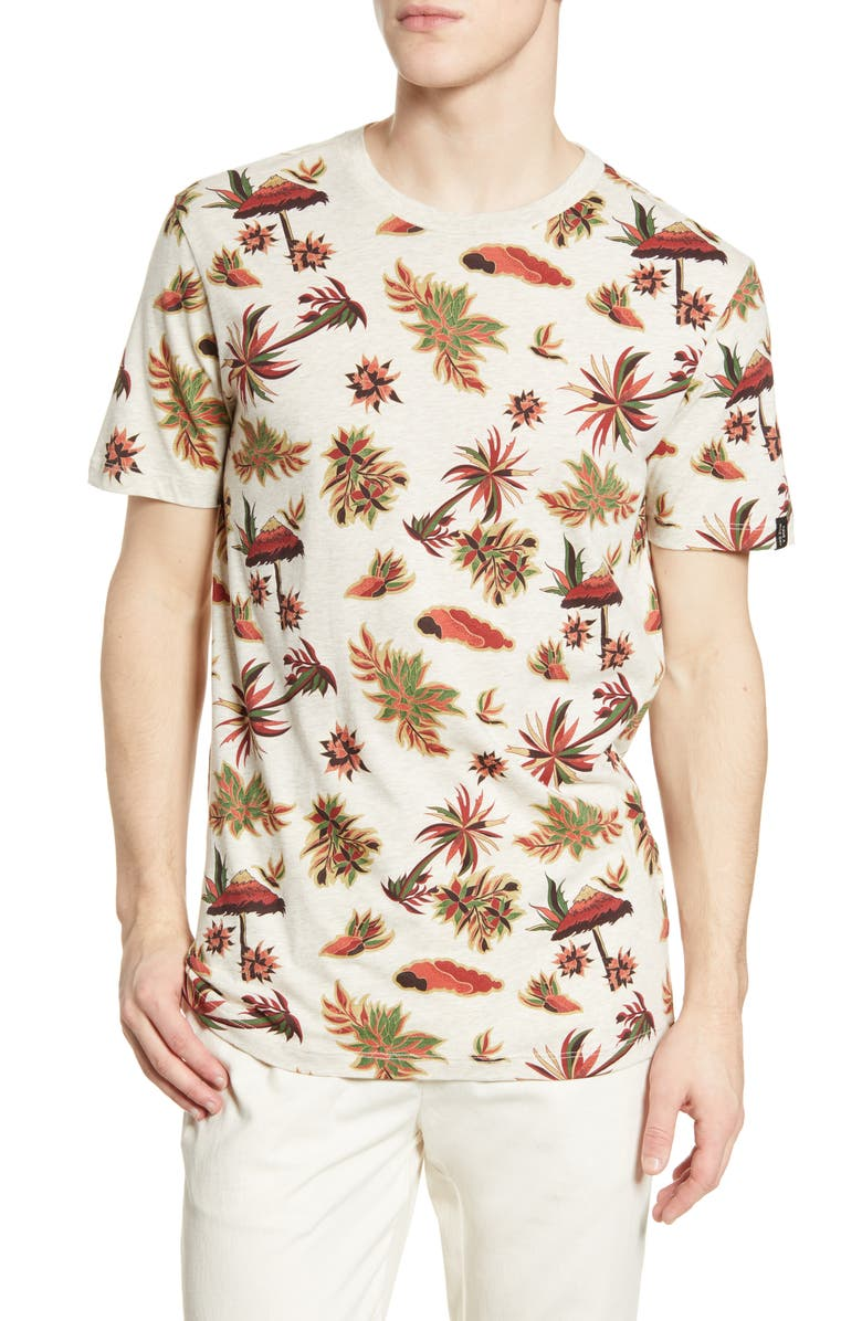 SCOTCH & SODA Regular Fit Floral Print Tee, Main, color, 270
