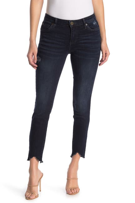Image of KUT from the Kloth Carlo Uneven Fray Skinny Jeans