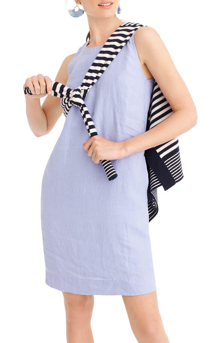 J.CREW Button Back Shift Dress, Main, color, MISTY PERI