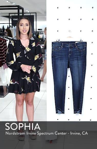 Indigo Curve Hem Skinny Jeans, sales video thumbnail