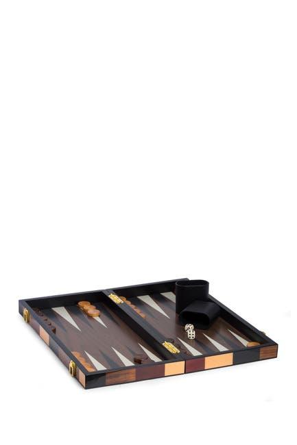 """Image of Bey-Berk Art Deco Design 18"""" Backgammon Set"""
