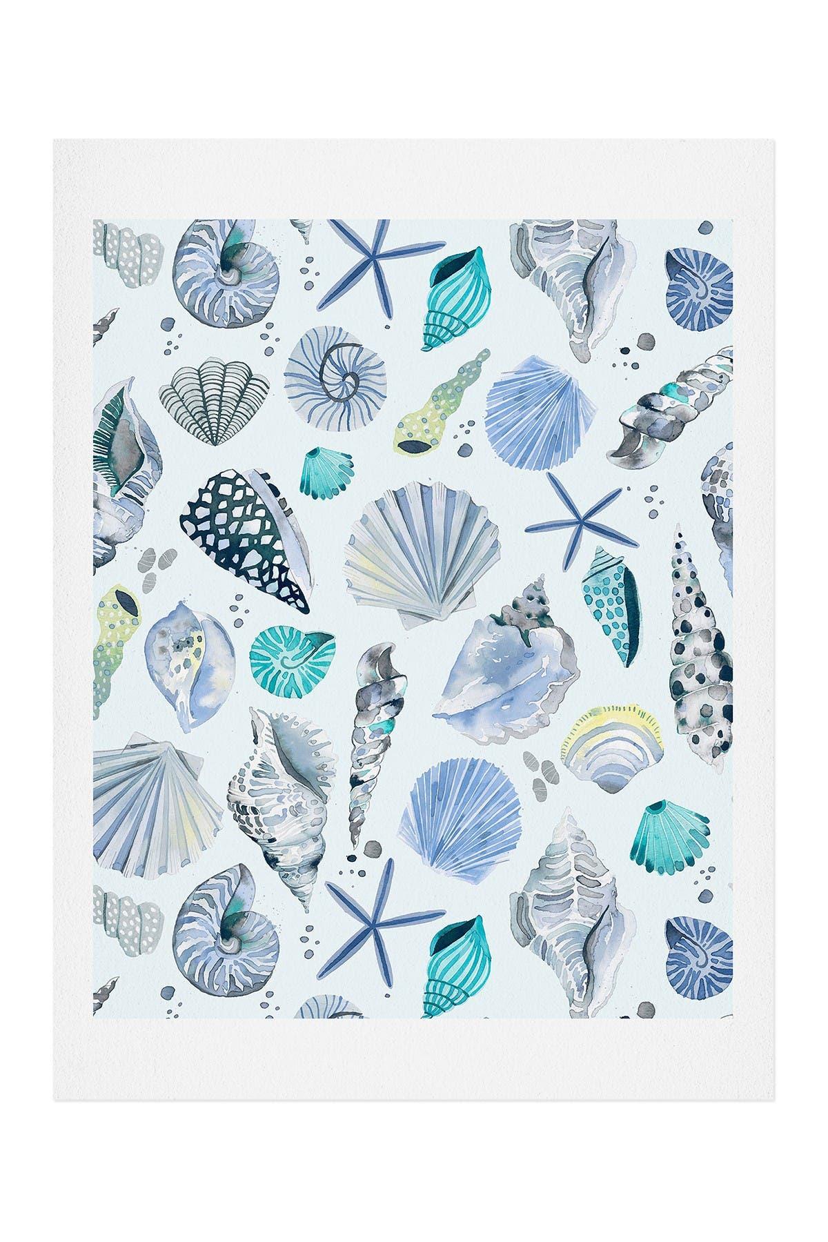 Image of Deny Designs Ninola Design Sea Shells Soft blue Art Print