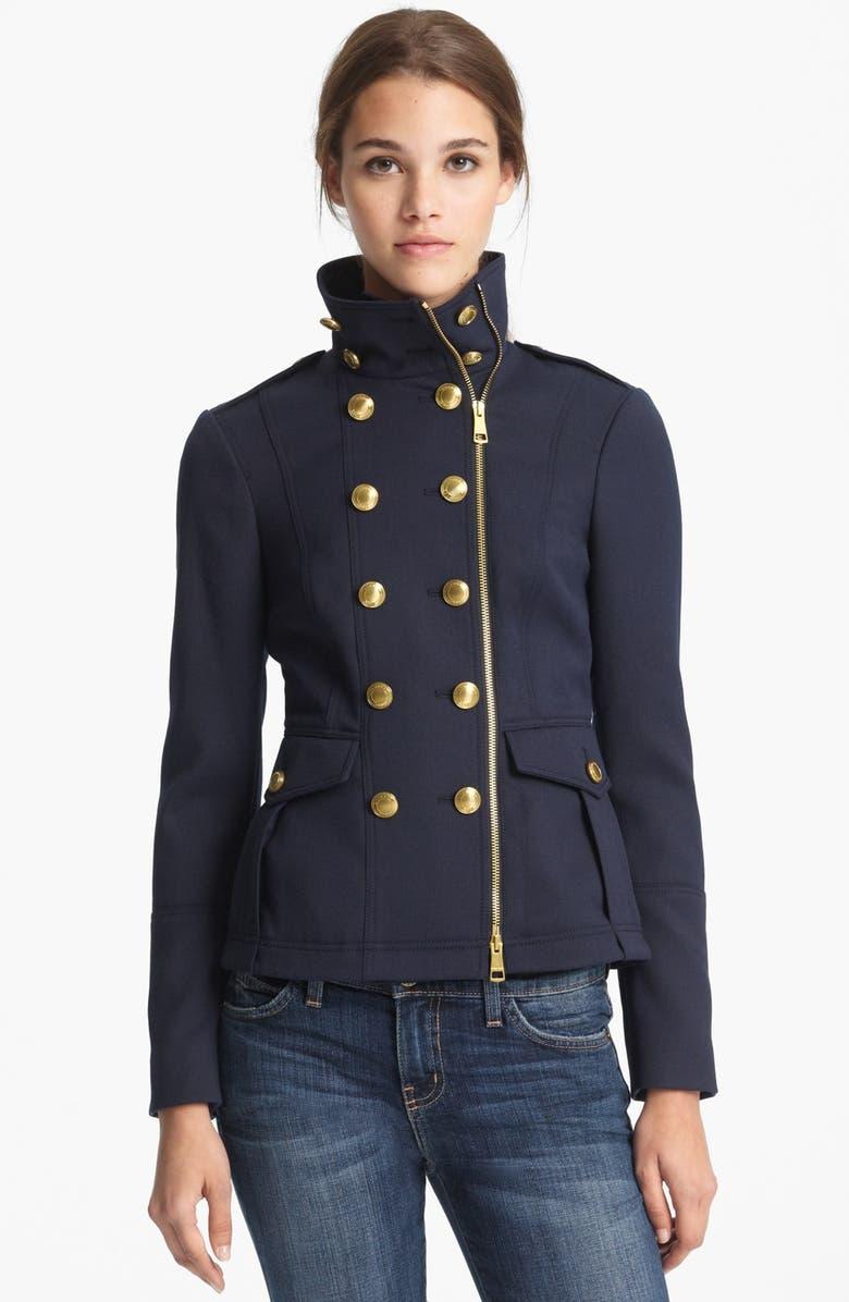 BURBERRY BRIT 'Crowborough' Military Jacket, Main, color, 412