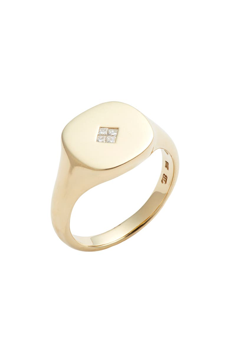 Diamond Signet Ring by Bony Levy