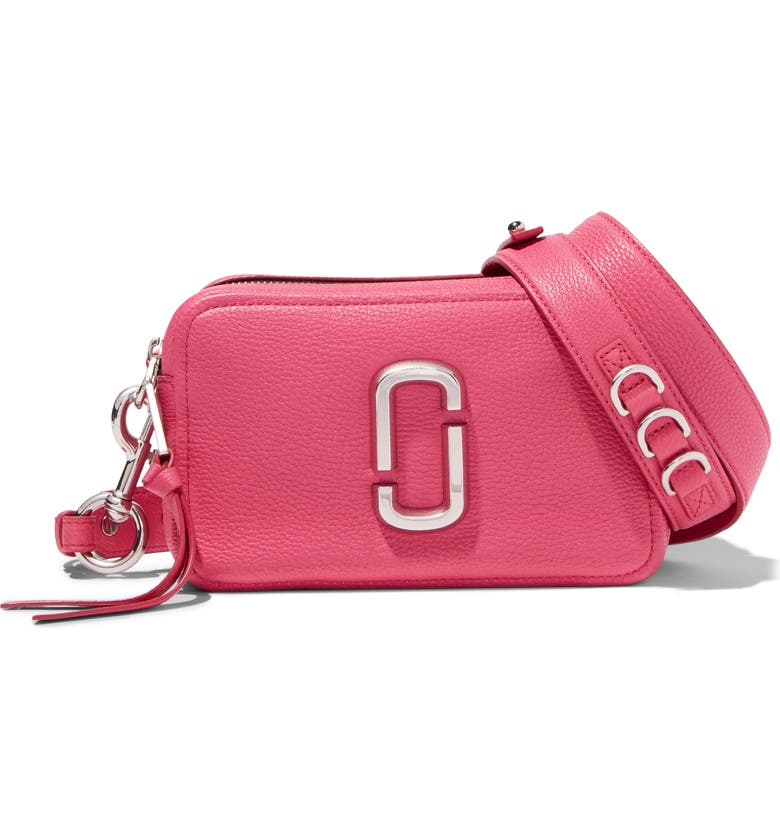 THE MARC JACOBS The Softshot 21 Crossbody Bag, Main, color, BEGONIA
