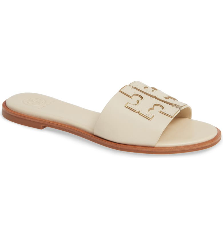 TORY BURCH Ines Slide Sandal, Main, color, NEW CREAM/ GOLD