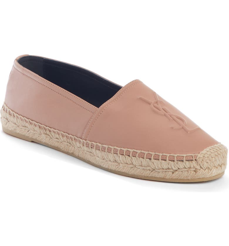 SAINT LAURENT YSL Logo Espadrille, Main, color, NUDE ROSE