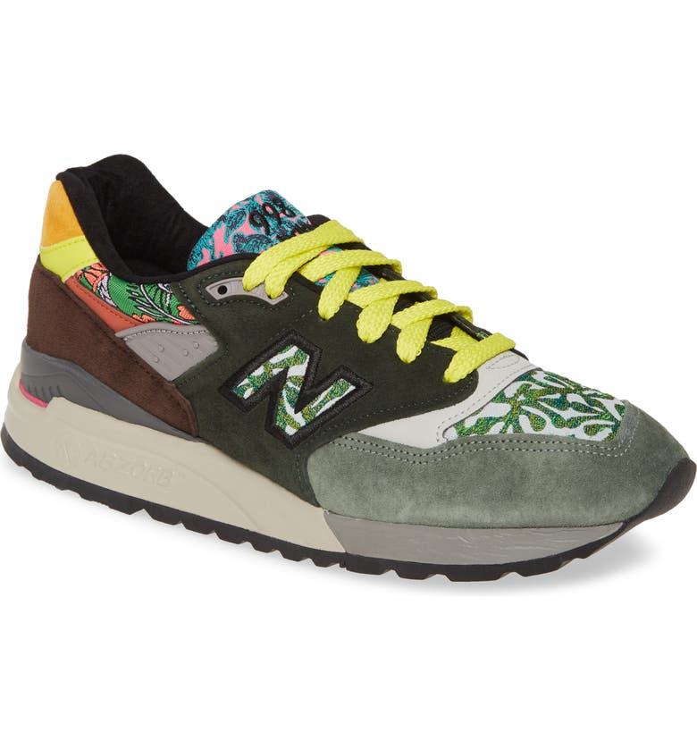 NEW BALANCE 998 Sneaker, Main, color, GREEN SUEDE