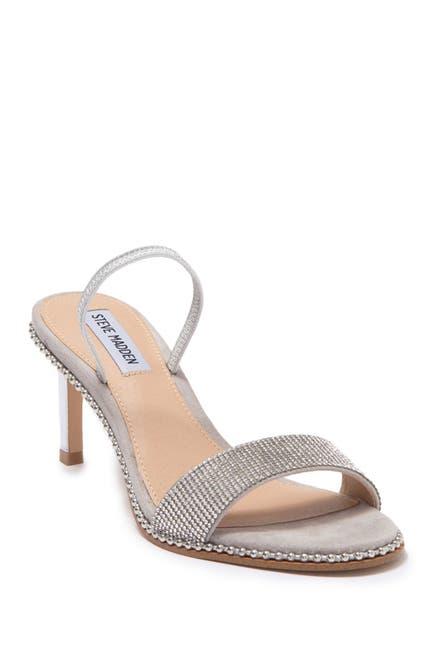Image of Steve Madden Benefit Crystal Heeled Sandal