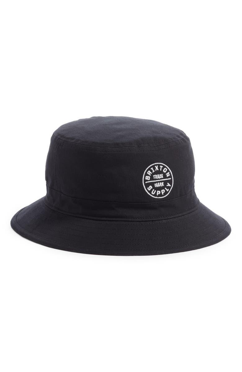 BRIXTON Oath Bucket Hat, Main, color, BLACK