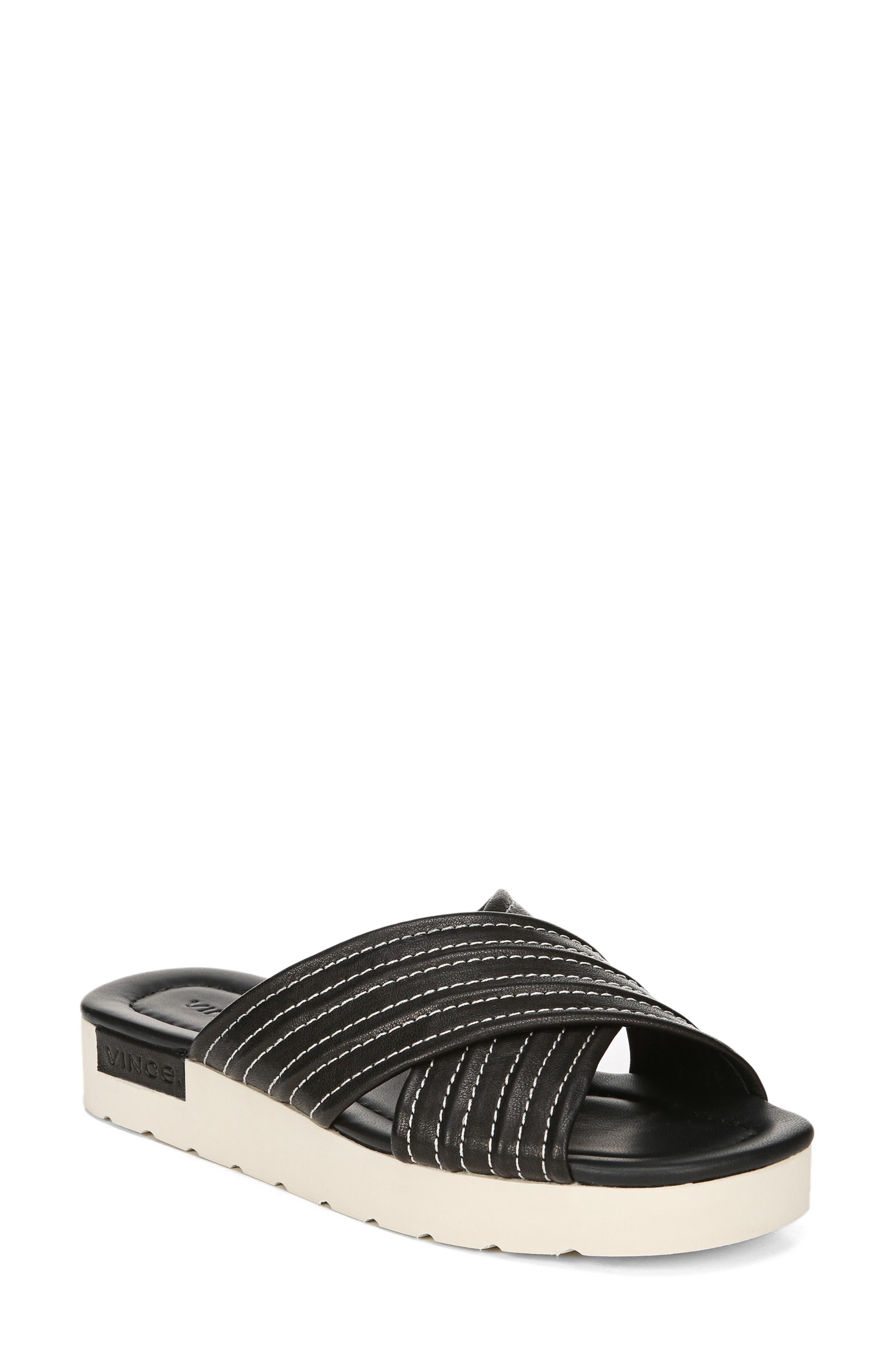 Camden Slide Sandal, Main, color, BLACK