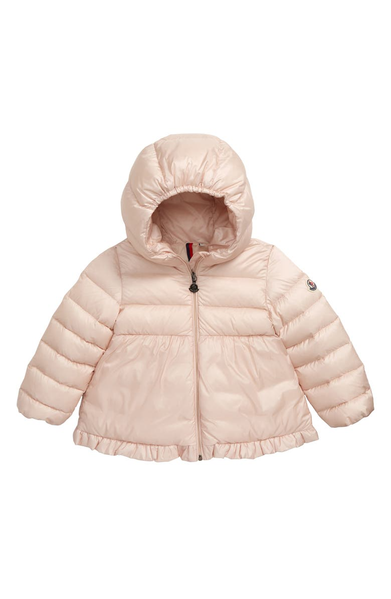 Moncler Odile Hooded Water Resistant Down Jacket Baby