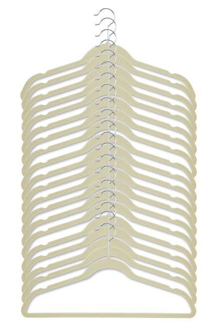 Image of Honey-Can-Do White Velvet Touch Suit Hangers - Pack of 20
