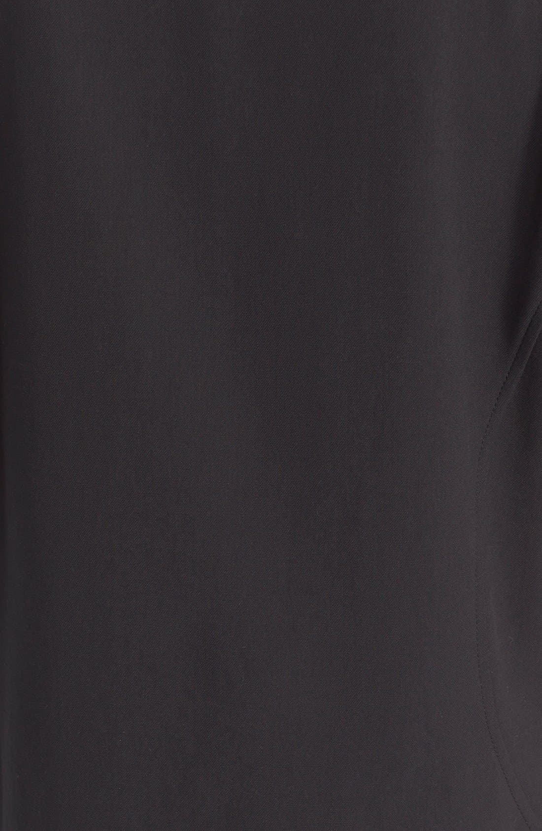 ,                             Grommet Detail Stretch Cotton Shift Dress,                             Alternate thumbnail 3, color,                             001
